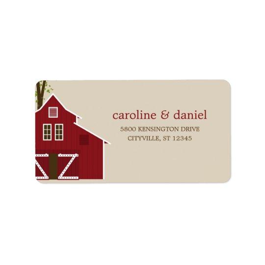 Rustic Barn Wedding Address Labels