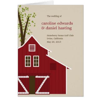 Rustic Barn Wedding Program Card
