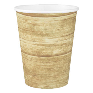 Rustic Barn Wood Country Party - Wedding Paper Cup