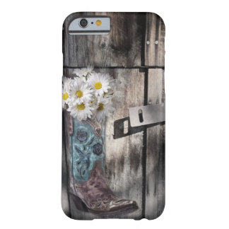 rustic barn wood cowboy boots western country barely there iPhone 6 case