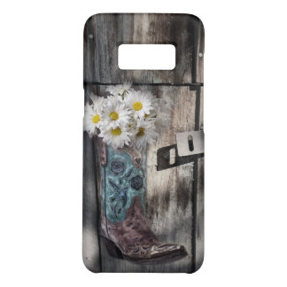 rustic barn wood cowboy boots western country Case-Mate samsung galaxy s8 case