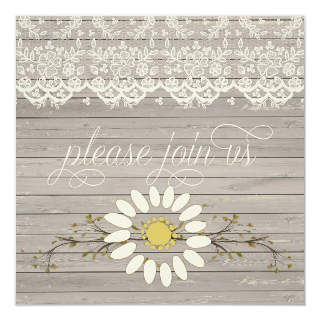 Rustic Barn Wood Lace Floral Post Wedding