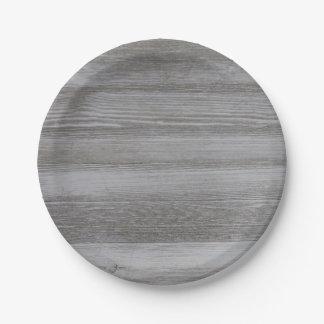 Rustic Barn Wood Paper Plate