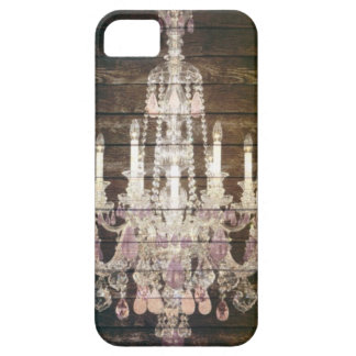 Rustic Barn Wood Paris vintage chandelier Case For The iPhone 5