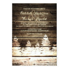 Rustic Barn Wood Pine Trees Winter Wedding Invite