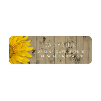 Rustic Barn Wood Sunflower Country Chic