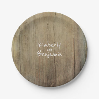 Rustic Barn Wood Texture Old Aged 7 Inch Paper Plate