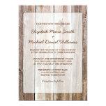 Rustic Barn Wood Wedding Invitations 13 Cm X 18 Cm Invitation Card