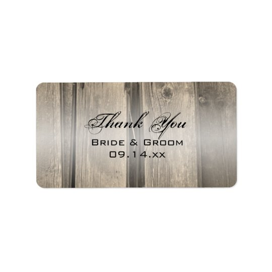 Rustic Barn Wood Wedding Thank You Favour Tag