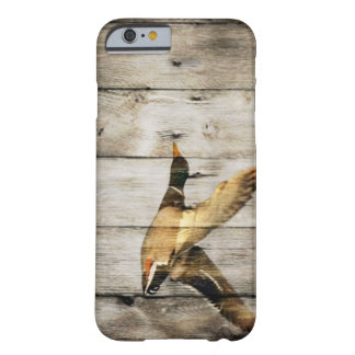Rustic Barn wood Western Country flying Wild Duck Barely There iPhone 6 Case