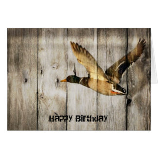 Rustic Barn wood Western Country flying Wild Duck Card