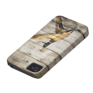 Rustic Barn wood Western Country flying Wild Duck iPhone 4 Covers
