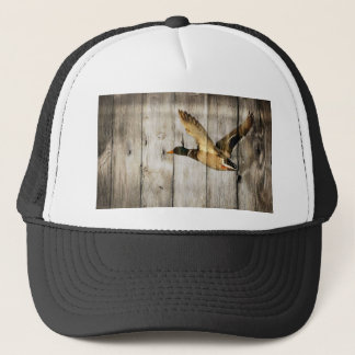Rustic Barn wood Western Country flying Wild Duck Trucker Hat