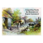 Rustic Barnyard with Horse and Goats Business Card