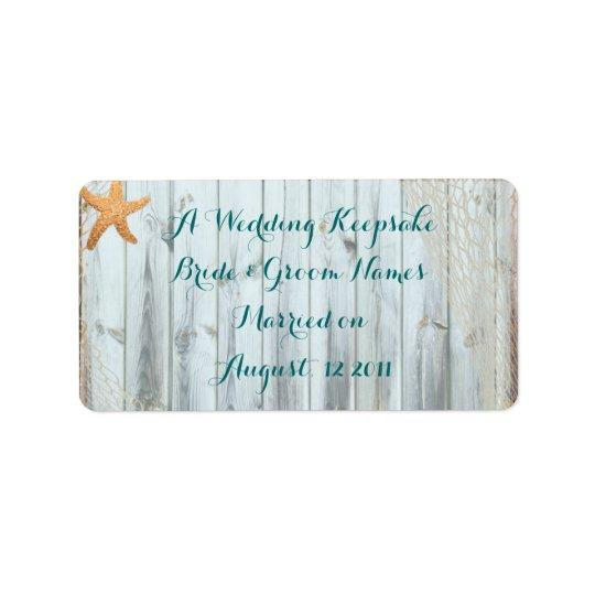 Rustic Beach Starfish Wedding Favour Lip Balm Tube Label