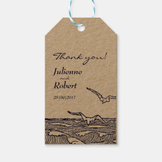 Rustic Beach Wedding Thank You Favor Tags