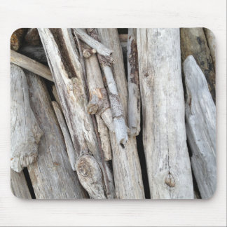 Rustic Beachy Driftwood Stack from Oregon Coast Mouse Pad