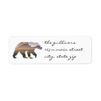 Rustic Bear Return Address Labels