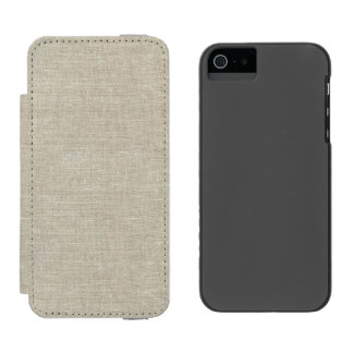 Rustic Beige Linen Printed Incipio Watson™ iPhone 5 Wallet Case
