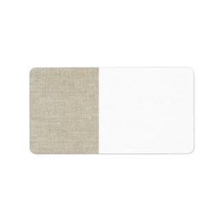 Rustic Beige Linen Printed Label