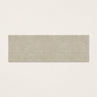 Rustic Beige Linen Printed Mini Business Card