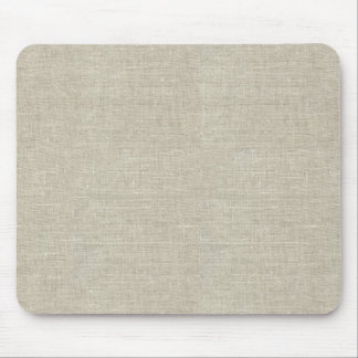 Rustic Beige Linen Printed Mouse Mat