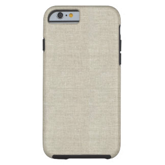 Rustic Beige Linen Printed Tough iPhone 6 Case