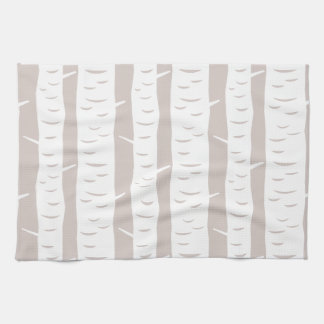 Rustic Birch Tree Pattern Tea Towel
