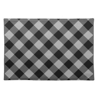 Rustic Black and Gray Buffalo Plaid | Holiday Placemat