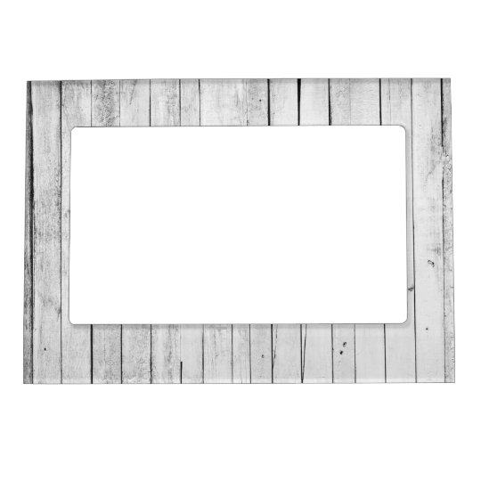 Rustic Black and White Wood Panel Farm Magnetic