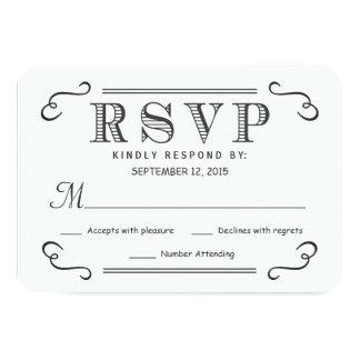 Rustic Black Burlap RSVP Wedding Reply 9 Cm X 13 Cm Invitation Card