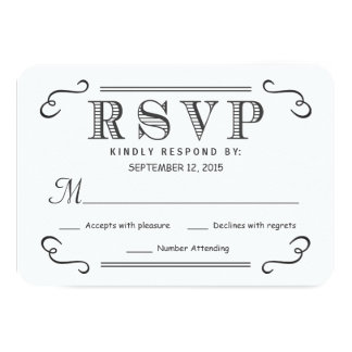 Rustic Black Burlap RSVP Wedding Reply Card
