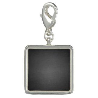 Rustic Black Chalkboard Printed Photo Charm
