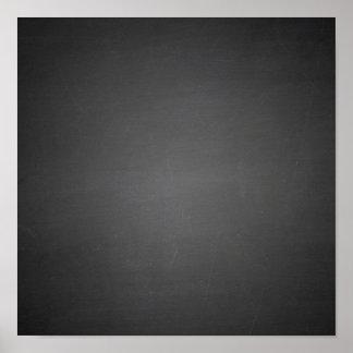 Rustic Black Chalkboard Printed Posters