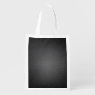 Rustic Black Chalkboard Printed Reusable Grocery Bag