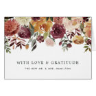 Rustic Bloom Personalised Thank You Card