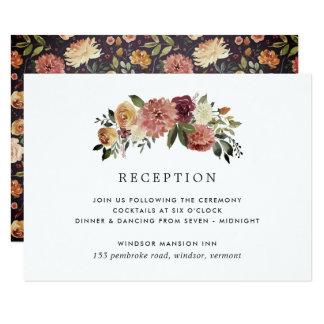 Rustic Bloom Reception Enclosure Card