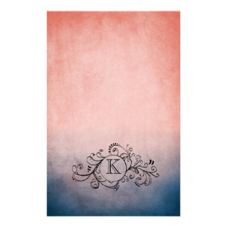 Rustic Blue and Pink Bohemian  Flourish Customised Stationery