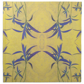 Rustic Blue and Yellow Napkin