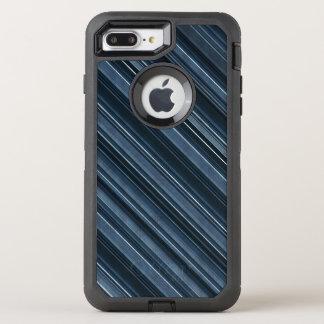 Rustic Blue, Attractive Men's Stripes Pattern OtterBox Defender iPhone 7 Plus Case