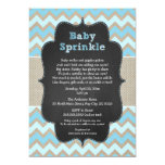 Rustic Blue Baby Sprinkle Invite / boy baby shower