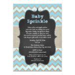 Rustic Blue Baby Sprinkle Invite / boy baby shower
