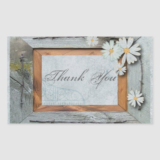 rustic blue barn wood daisy country wedding rectangular