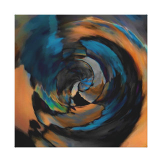 Rustic Blue Brown Black Abstract EDITABLE COLORS Canvas Print