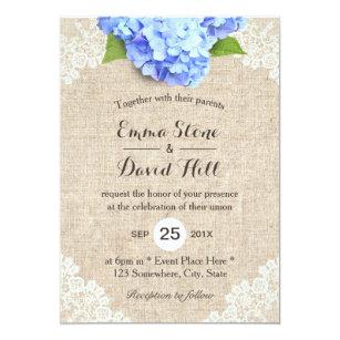 hydrangea wedding invitations zazzle co uk