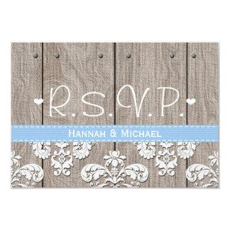 Rustic Blue Hydrangea Wedding RSVP Response Card