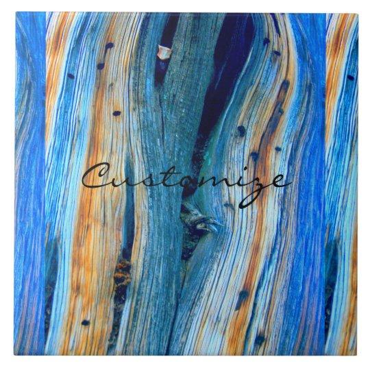 rustic blue juniper wood boards large square tile