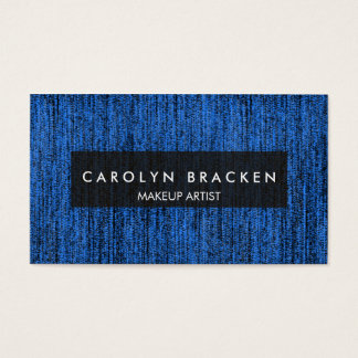 Rustic Blue Rope Pattern Business Card