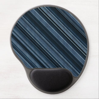 """Rustic Blue"" Stripes Pattern Gel Mouse Pad"