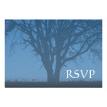 Rustic Blue Tree of Life Bar Mitzvah RSVP